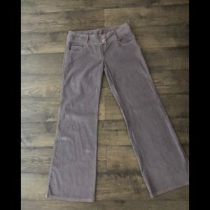 NWT Purple-gray hipster flare corduroys